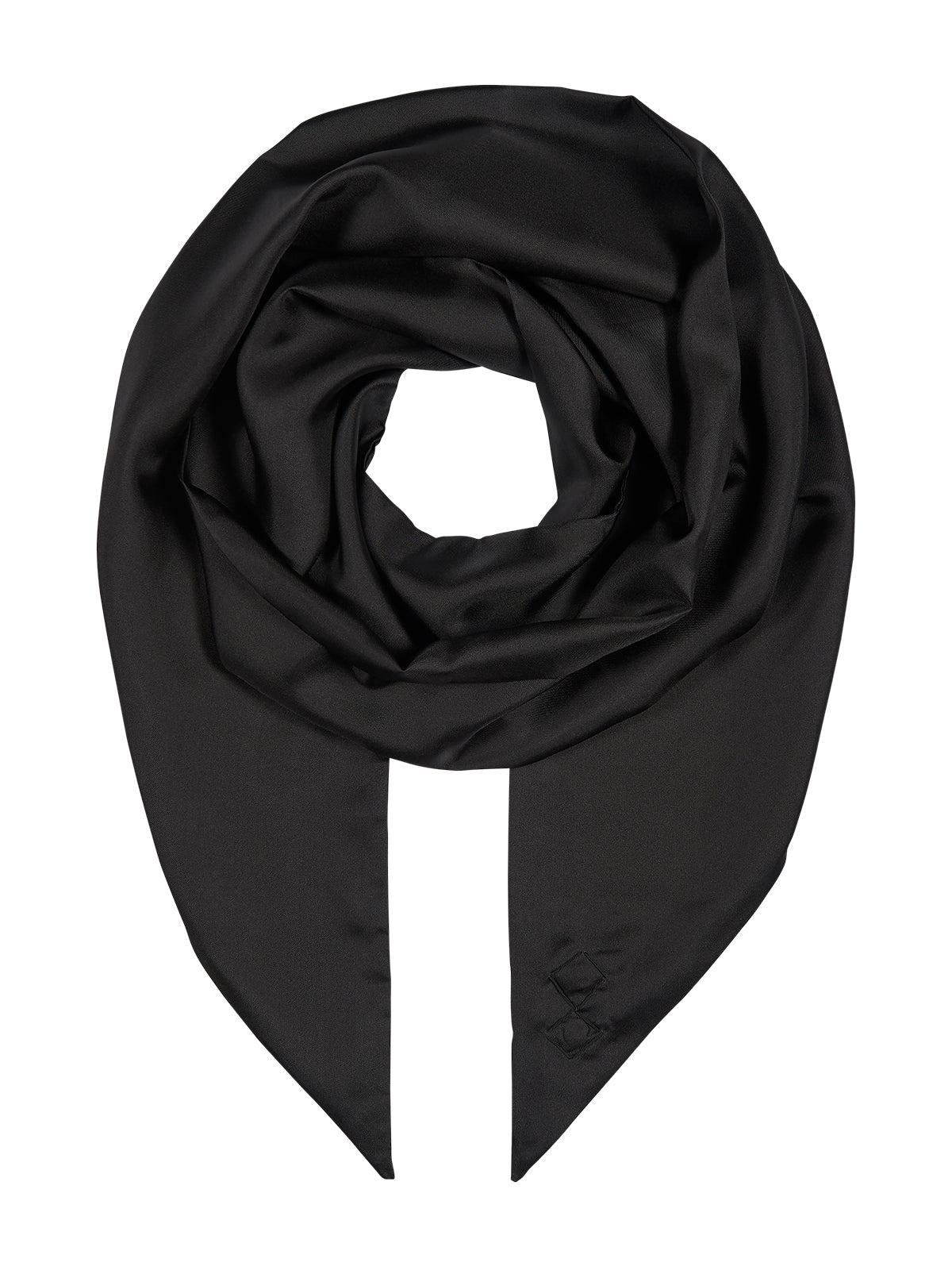 Silk Tubolar scarf in black