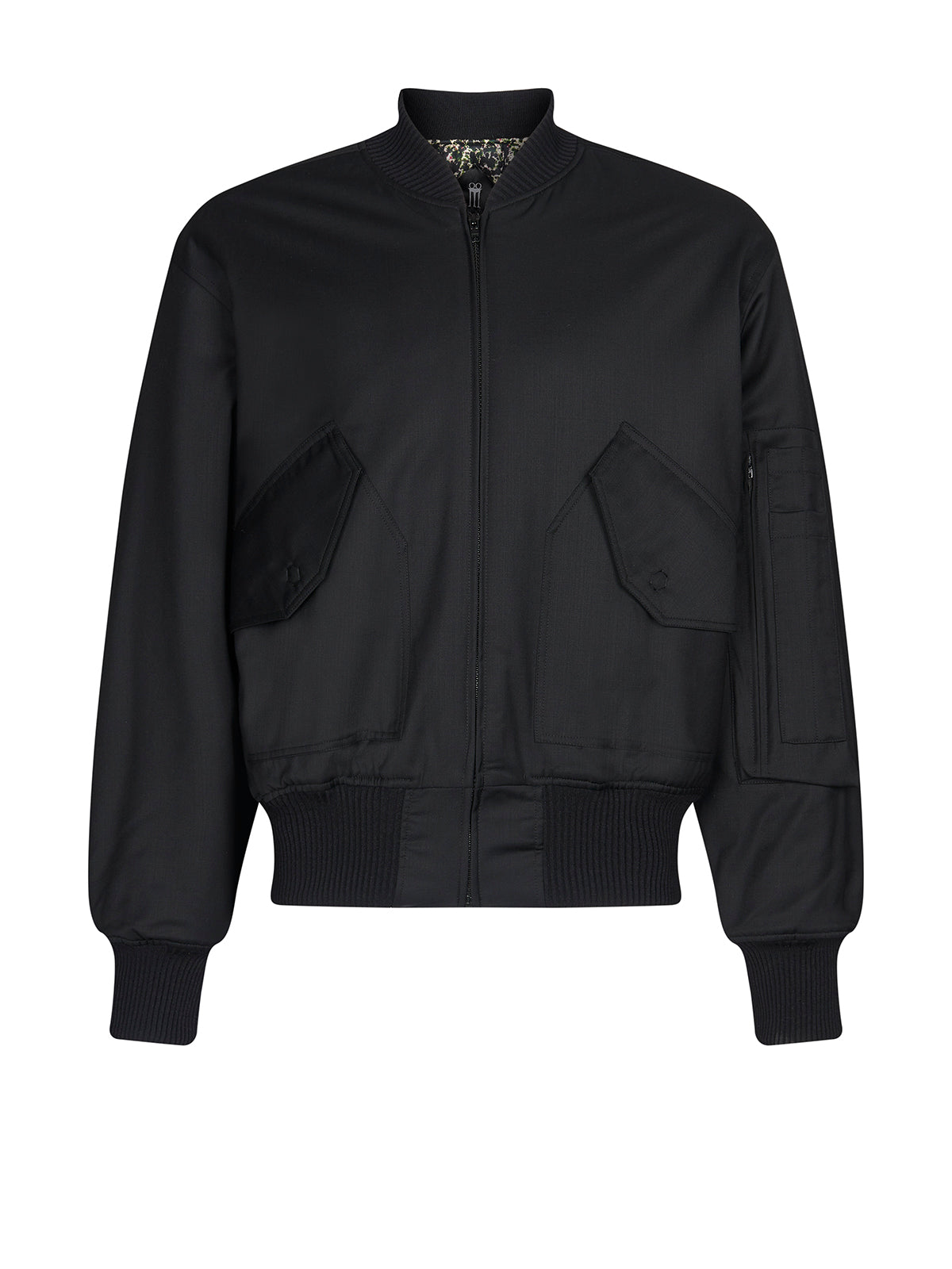Iceman bomber jacket in black