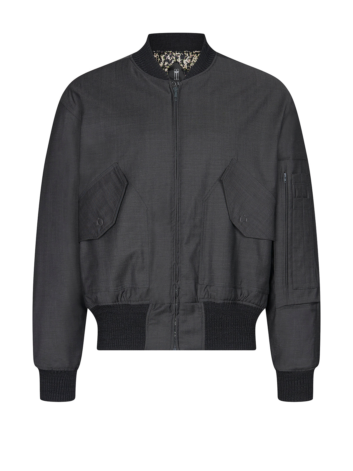 Iceman bomber jacket in grey