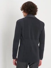 Back of Hans jacket in grey