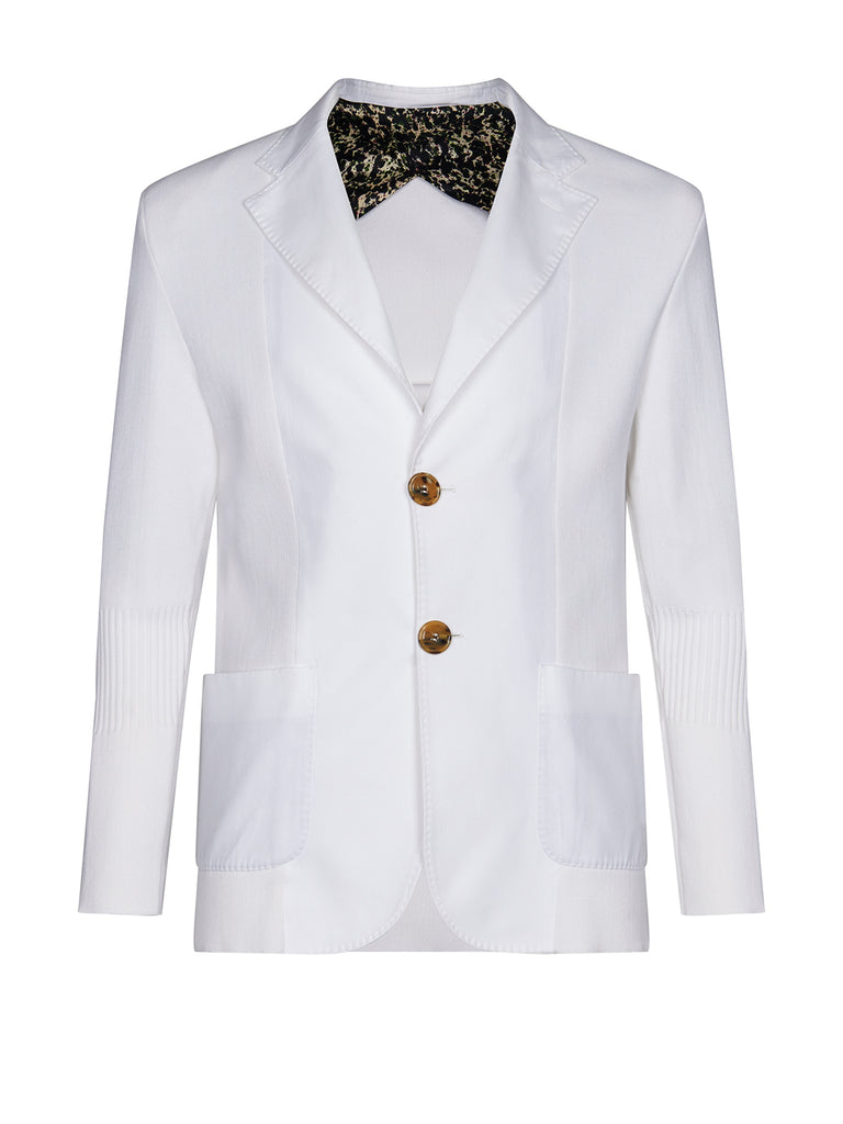 Hans jacket Doused in white