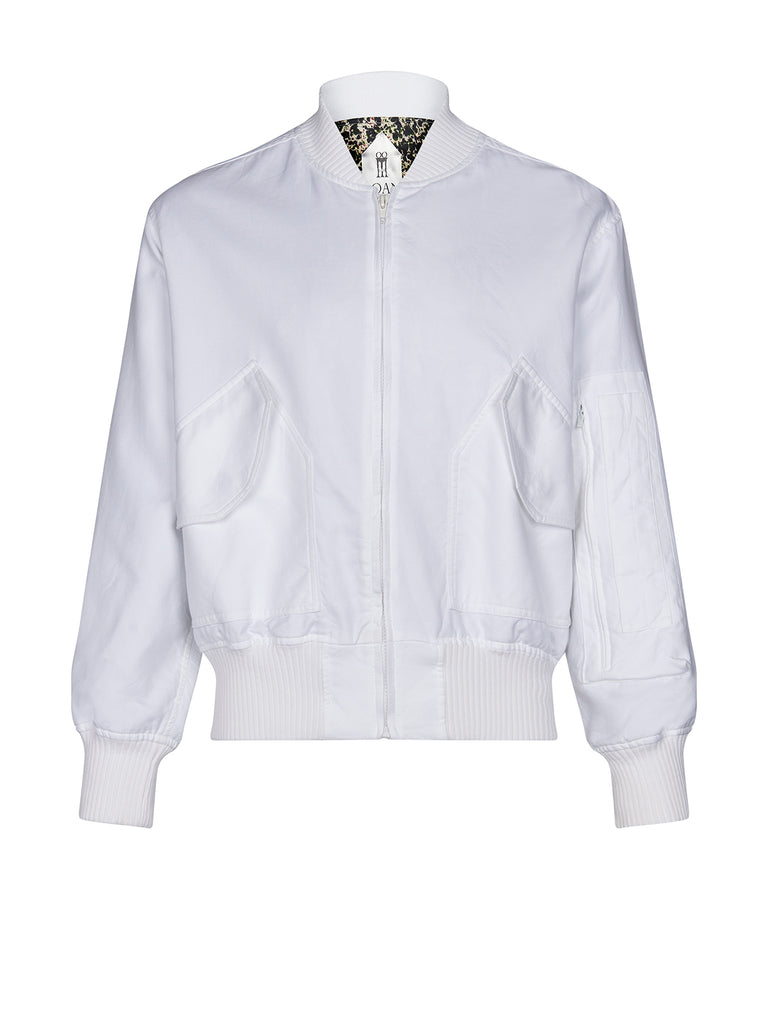 Iceman bomber jacket in white