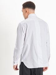Back of Ikarus shirt in white
