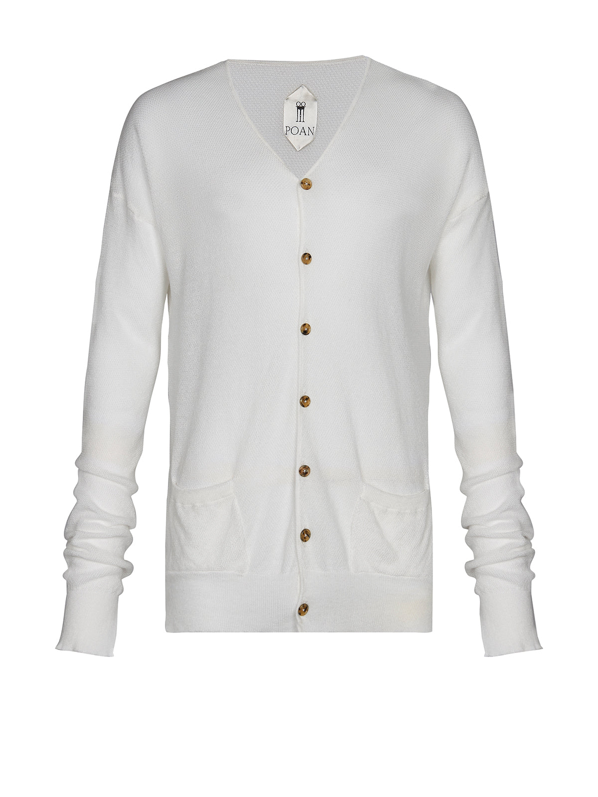 ROBERTO CARDIGAN DOUSED WHITE