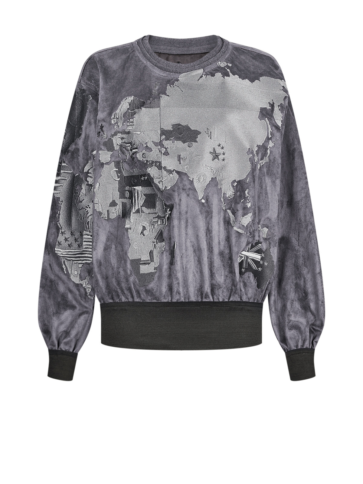 APOLLO WORLDMAP SWEATSHIRT GREY