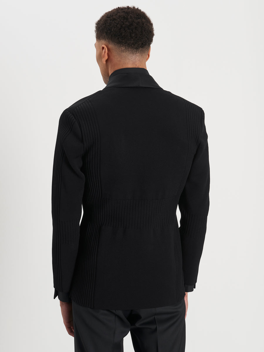 Back of Smoker jacket in black