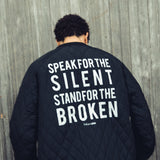 Stand For the Broken Bomber Jacket in Black