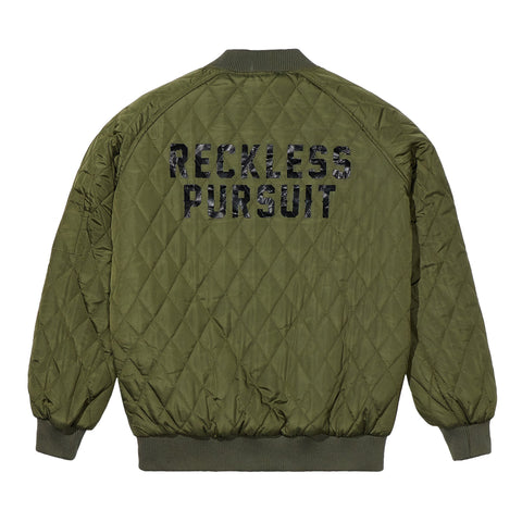 FYG Reckless Pursuit Quilted Jacket in Green