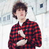 FYG Misfits Checkered Flannel in Red/Black