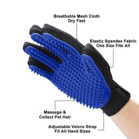 Pet Glove for Grooming - remove hair - Right Hand