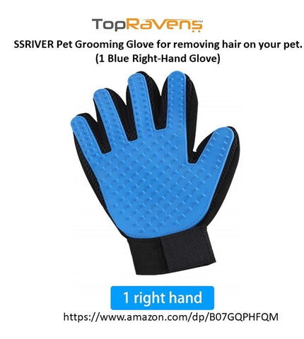 Pet Grooming Glove by SSRIVER