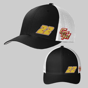 2020 All Black White CFM Official Hat #22 Two Logo
