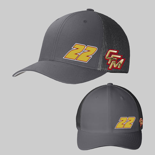 2020 All Grey CFM Official Hat #22 Two Logo