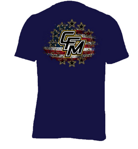 CFM Stars and Bars Navy Tee