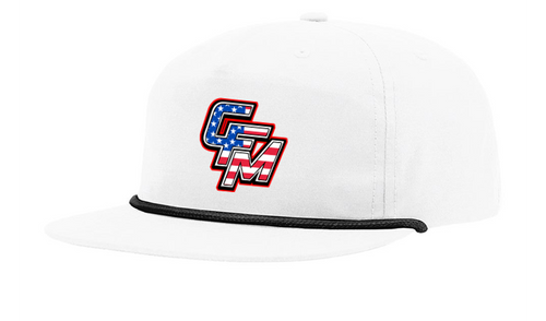 White CFM Stars and Stripes Rope Hat