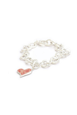 Splash ~ Squiffy Heart Chunky Bracelet