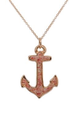 Nautical ~ Anchor (Large) Pendant in Gold - Alexandra Mosher Studio Jewellery Bermuda Fine