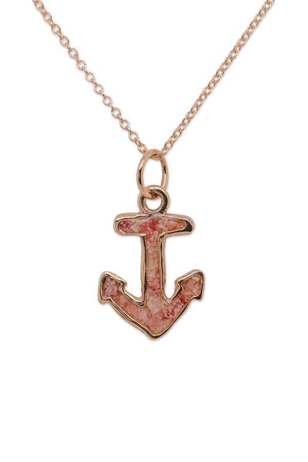 Nautical ~ Anchor (Small) Pendant in Gold - Alexandra Mosher Studio Jewellery Bermuda Fine