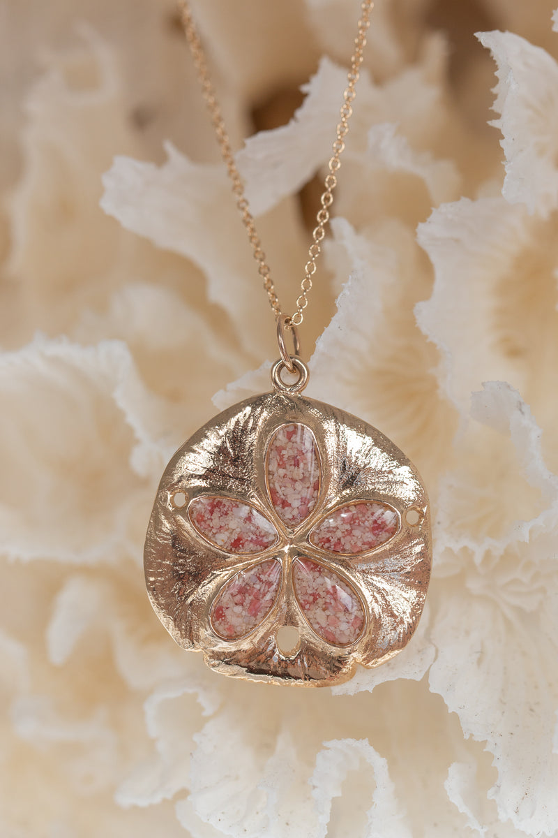 Friends ~ Sand Dollar (Large) Pendant in Gold - Alexandra Mosher Studio Jewellery Bermuda Fine