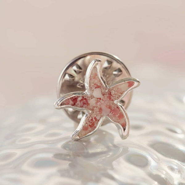Friends ~  Small Starfish Tie Pin - Alexandra Mosher Studio Jewellery Bermuda Fine