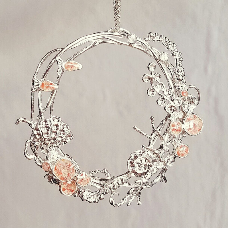 Reef ~ Wreath 2016 Ornament / Pendant - Alexandra Mosher Studio Jewellery Bermuda Fine