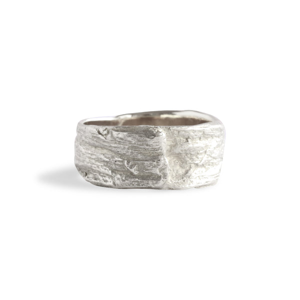 Bermuda Textures ~ Palm Tree Trunk Gold Ring - Alexandra Mosher Studio Jewellery Bermuda Fine