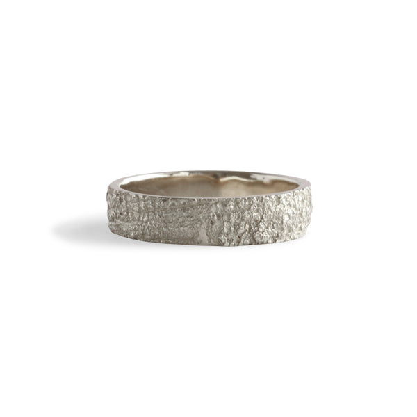 Bermuda Textured 14K Gold Bands Lichen from Devonshire Bay