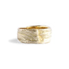 Bermuda Textured 14K Gold Bands Palm Tree Trunk