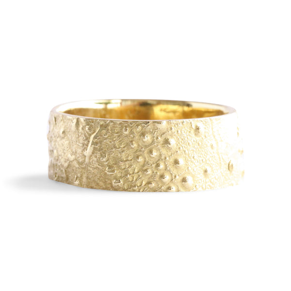 Bermuda Textured 14K Gold Bands Southampton Sea Urchin