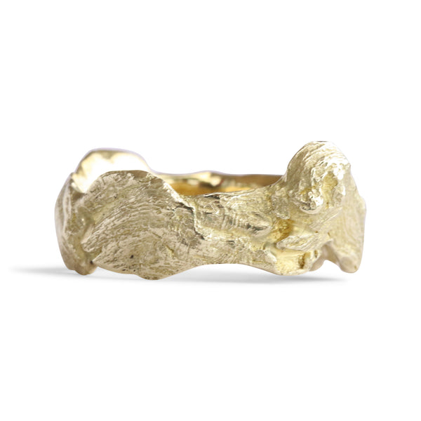 Bermuda Textured 14K Gold Bands South Shore Driftwood