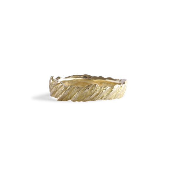 Bermuda Textured 14K Gold Bands Boat Rope from Flatt's Inlet - Thin
