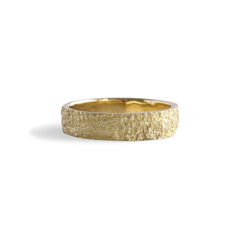 Bermuda Textured 14K Gold Bands Lichen from Devonshire Bay - Alexandra Mosher Studio Jewellery Bermuda Fine