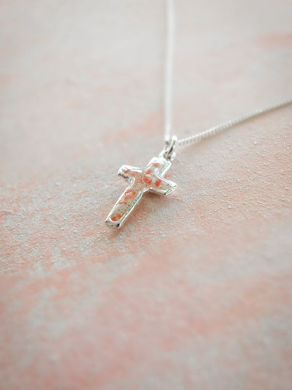 Splash ~ Cross Pendant - Alexandra Mosher Studio Jewellery Bermuda Fine