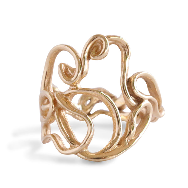 Melt Cocktail Ring 14K Gold - ARCHIVED - Alexandra Mosher Studio Jewellery Bermuda Fine