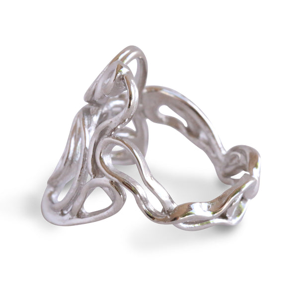 Melt Cocktail Ring in Gold - Alexandra Mosher Studio Jewellery Bermuda Fine