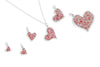Splash Collection - Petites | Large Heart Dangle Earrings