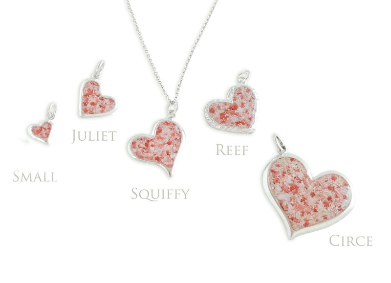 Splash ~ Heart (Juliet) Pendant - Alexandra Mosher Studio Jewellery Bermuda Fine