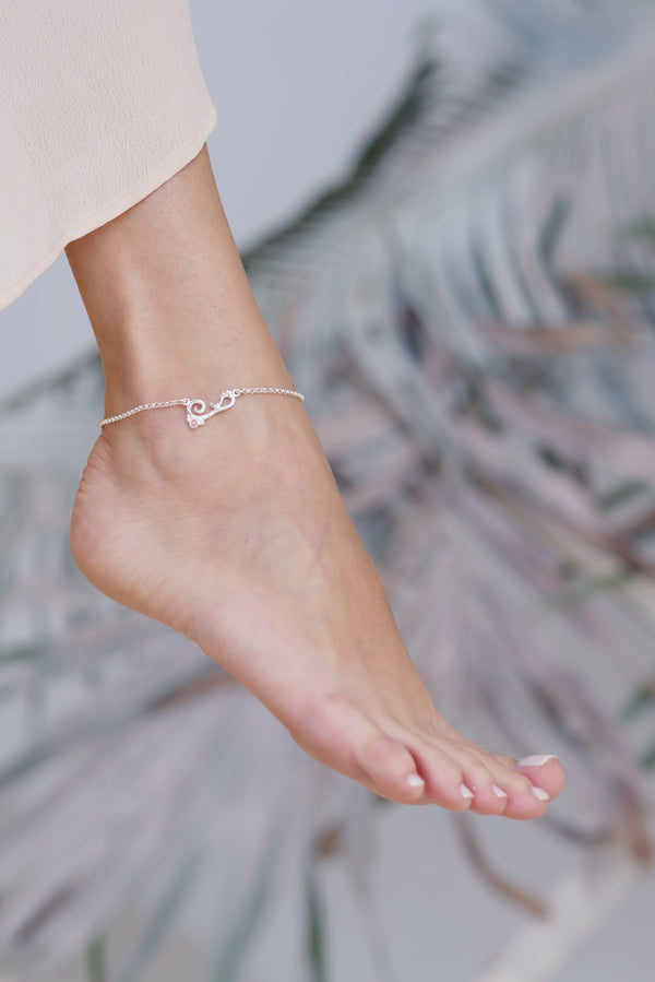 Bermuda ~ Small Inline Anklet