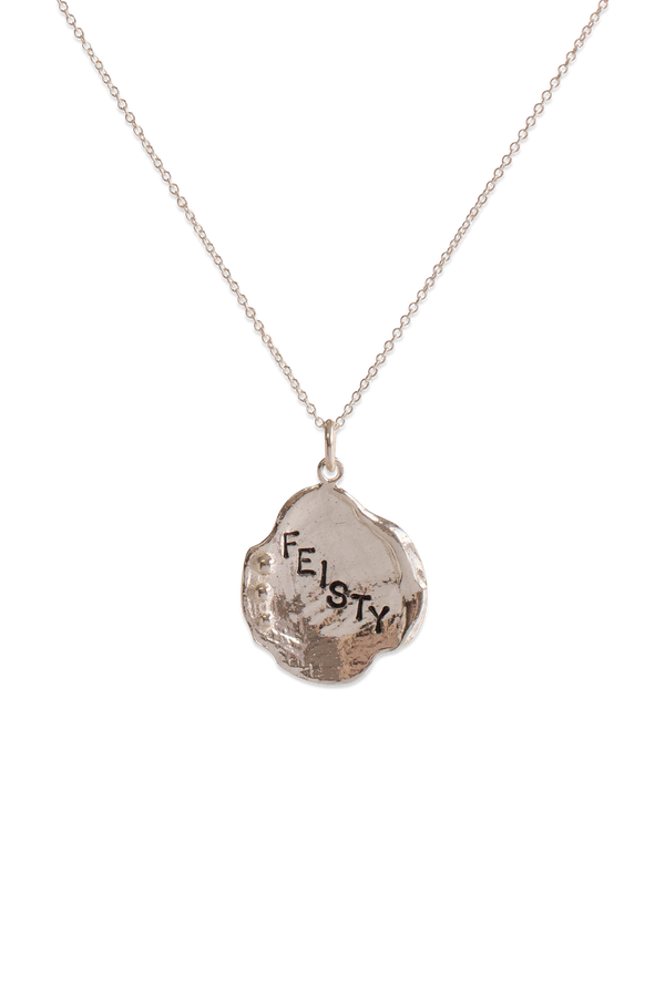 Bermy Vurds ~ Large Lilypad Custom Stamped Pendant