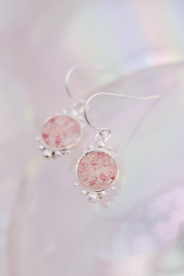 Coral Caviar ~ Large Dangle Earrings - Alexandra Mosher Studio Jewellery Bermuda Fine