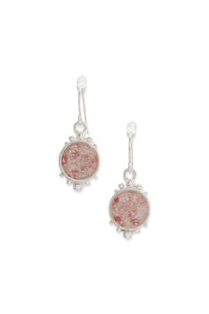 Coral Caviar Large Dangle Earrings