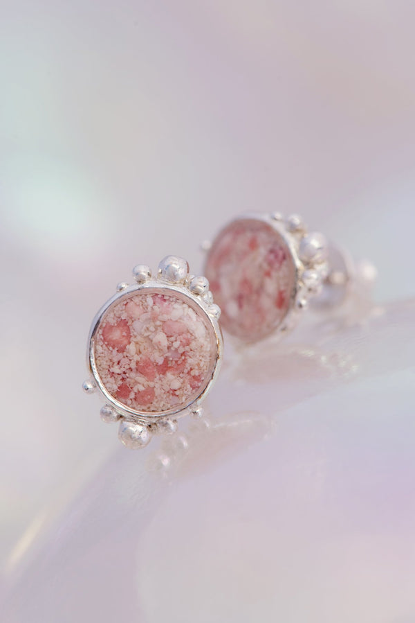 Coral Caviar ~ Large Stud Earrings - Alexandra Mosher Studio Jewellery Bermuda Fine