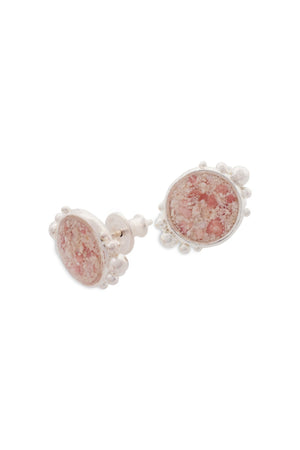 Coral Caviar Large Stud Earrings