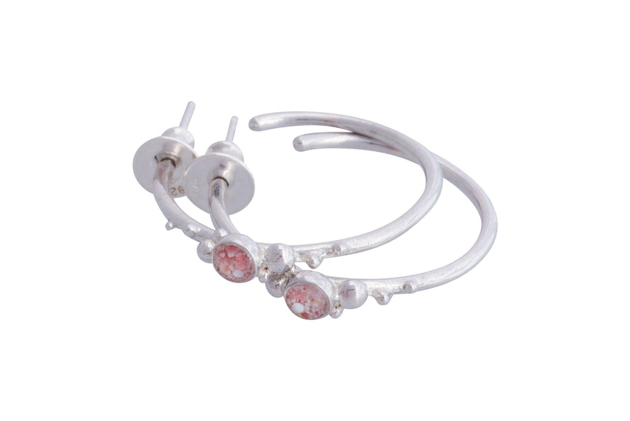 Coral Caviar Medium Hoop Earrings