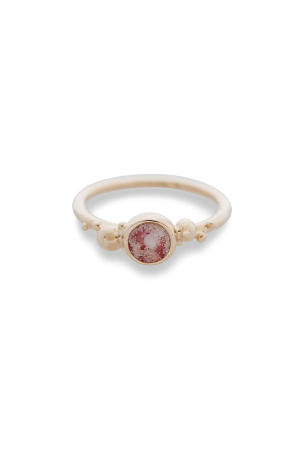 Coral Caviar Collection | Medium Ring 14K - Alexandra Mosher Studio Jewellery Bermuda Fine