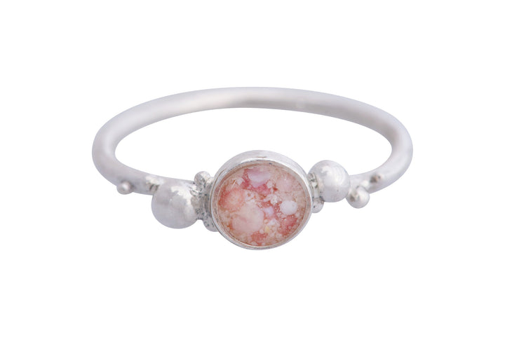 Coral Caviar Medium Ring