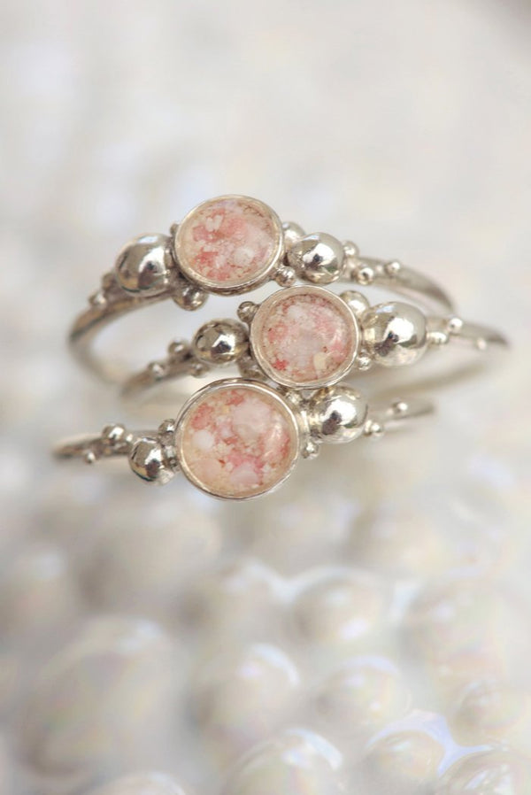 Coral Caviar ~ Medium Ring