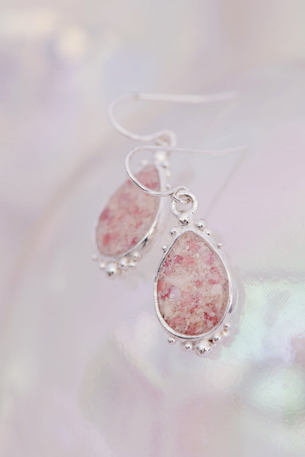 Coral Caviar ~ Teardrop Dangle Earrings - Alexandra Mosher Studio Jewellery Bermuda Fine