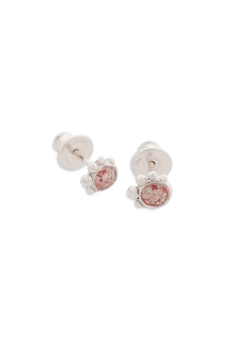 Coral Caviar Tiny Stud Earrings