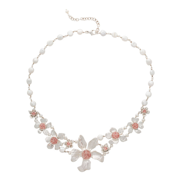 Fera ~ Bouquet of Flowers Grand Necklace - Alexandra Mosher Studio Jewellery Bermuda Fine